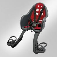 Кресло детское с креплением на вынос руля серое с красной накладкой, 15кг, Италия (Арт.:006)