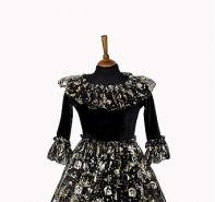 """Платье """"Принцесса Хеллоуин"""" чёрное с золотом"""