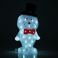 "Фигура акрил. ""Снеговик в шляпе"" 22х18х46 см, 220V, 30 LED, контроллер 8 режимов"