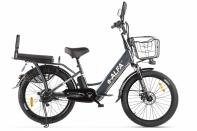 Велогибрид GREEN CITY e-ALFA Fat темно-серый