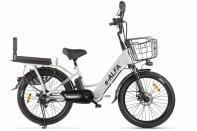 Велогибрид GREEN CITY e-ALFA Fat Белый