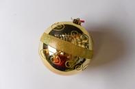 Шар с рисунком, диаметр 15 см, цвет золотой