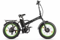 Велогибрид VOLTECO BAD DUAL NEW Черно-салатовый