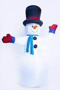Надувной снеговик 2,4 метра