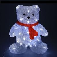 """Фигура акрил. """"Мишка"""" 15х25х30 см, 30 LED, с конр. 8р.,220V"""