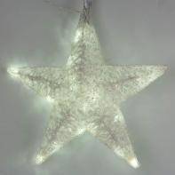 "Фигура акрил. ""Звезда белая"" 48х15х48 см,20 ламп,220V, ТЕПЛ. БЕЛ"
