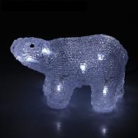 "Фигура акрил. ""Медвежонок на батарейках"" 20х10х14 см,(АА*2 шт.не в компл.), 15 LED"