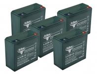 Комплект тяговых гелевых аккумуляторов RuTrike 6-DZM-20 (60V20A/H C2)