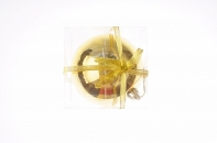 Рождественский шар 15 см, цвет золото глянцевый