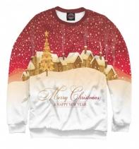 Мужской свитшот Рождественские огни