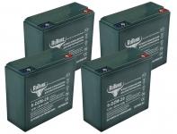 Комплект тяговых гелевых аккумуляторов RuTrike 6-DZM-20 (48V20A/H C2)