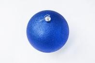 Рождественский шар 20 см, цвет синий