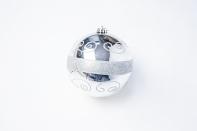 Шар с рисунком, диаметр 15 см, цвет серебряный