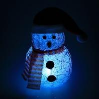 """Игрушка акрил. """"Снеговик"""" (батарейки в комплекте) 11 х 13 см, 1 LED, RGB, БЕЛЫЙ"""