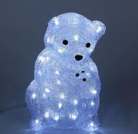 """Фигура акрил. """"Мама-медведица"""" 21х25х40 см, контроллер с димером, 40 LED, 220V"""