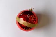 Шар с рисунком, диаметр 15 см, цвет красный