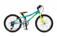 "20"" Велосипед HOGGER ""QUANTUM"" V-brake, алюминий, 7-ск., голубой-лайм"