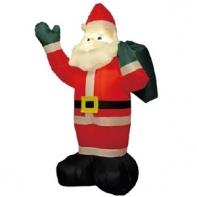 """Надувная фигура """"Дед Мороз с мешком"""", 2,4 м"""