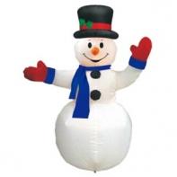 "Надувная фигура ""Снеговик в цилиндре"", 2,4 м"