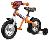 69-Беговел с колесиками и подножкой оранжевый (Арт:00172094)
