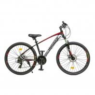 "26"" Велосипед HOGGER Forever (MQ Men) 21-ск, горный, 15, алюминий, Disc мех, RED&GREY&BK"