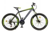 """26"""" Велосипед HOGGER PHOENIX, 21-ск, горный, 19, сталь, Disc мех, Зеленый/Серый"""