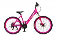 """26"""" Велосипед HOGGER  ( Lady) 21-ск, 17, алюминий, Disc механические, розовый"""