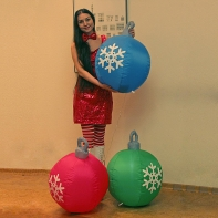 "Надувная фигура ""Три шарика"", диаметр каждого шарика 0,5 м"