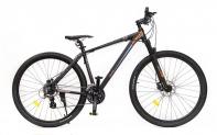 """29"""" Велосипед HOGGER Sorun (XTM80)  24-ск, горный, 23, алюминий, Disc механические, черно-оранжевый"""
