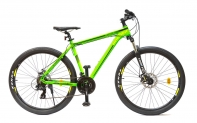 """27,5"""" Велосипед HOGGER (XTM443) 21-ск, горный, 19, алюминий, Disc механические, зеленый матовый"""