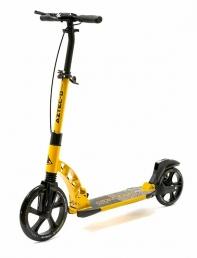 """Самокат TRIX """"AZTEC-D"""" Колеса: переднее 230 мм, заднее 200 мм, Цвет:желтый, тормоз задний, дисковый"""