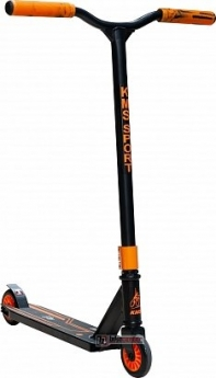 Самокат трюковой KMS SK-410 (2019) черно-оранжевый