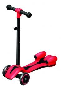 """Самокат """"Lamborghini"""" 3-х колесный,руль телескоп.,макс.нагрузка 30 кг (красный)"""