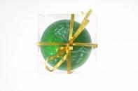 Рождественский шар, 15 см, цвет зелёный в присыпке