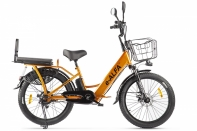 Велогибрид GREEN CITY e-ALFA Fat Золотистый
