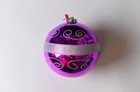 Шар с рисунком, диаметр 15 см, цвет фиолетовый