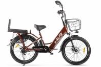 Велогибрид GREEN CITY e-ALFA Fat Коричневый