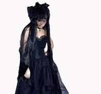 """Платье """"Черная невеста"""""""