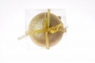 Рождественский шар, 15 см, цвет золото в присыпке
