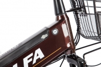 Велогибрид Eltreco e-ALFA GL dark grey