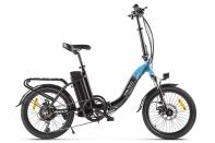 Велогибрид VOLTECO FLEX UP! Черно-голубой