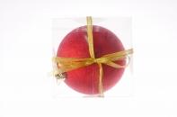 Рождественский шар, 15 см, цвет красный в присыпке