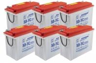 Комплект тяговых аккумуляторов 6-GFM-120 (72V120A/H C20)