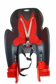 Кресло детское с креплением на багажник серое с красной накладкой, 22кг, Италия (Арт.:016)
