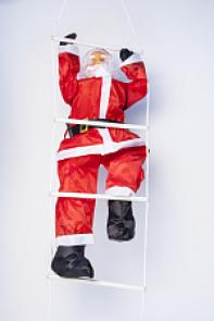 Дед-Мороз уличный на лестнице 90 см