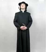 """Костюм """"Священник католический"""" черный"""