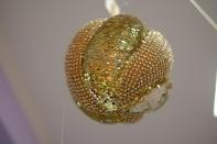 Рождественская декорация (Шар золотой), размер 20 см, 6 штук в блоке