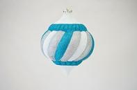 """Новогодняя игрушка """"Элегантный подвес"""" матовый, диаметр 250 мм"""
