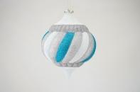 """Новогодняя игрушка """"Элегантный подвес"""" матовый, диаметр 180 мм"""