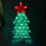 Акриловая Елка со звездой, 40 лампочек, провод 5 метров, 32*9*60 см.
